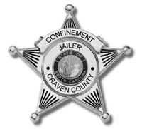 Craven County Confinement Jailer Badge